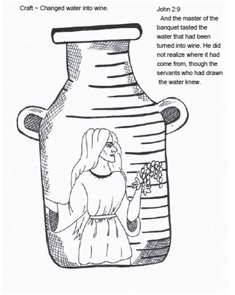 coloring pages water to wine 65 best jesus turns water into wine images on pinterest
