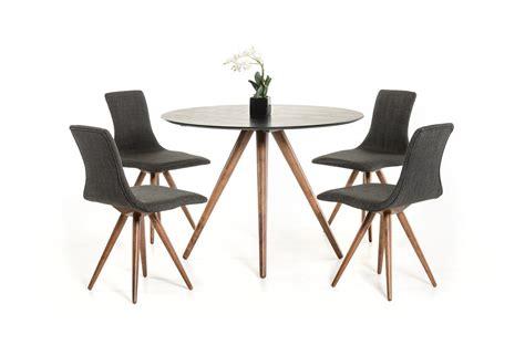 elegant round dining elegant four legged black and walnut round dining set