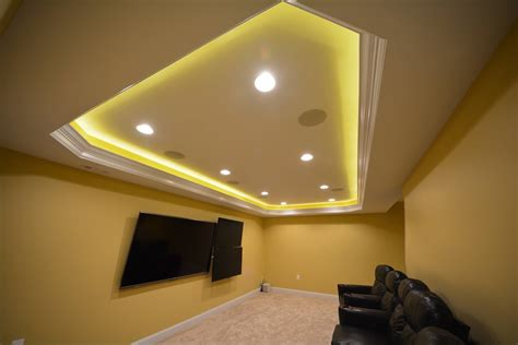 Basement Ceilings Ideas Basement Masters Hiding Led Lights