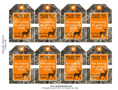 Printable Hunting Tags | diy camo boy hunting birthday party printable by