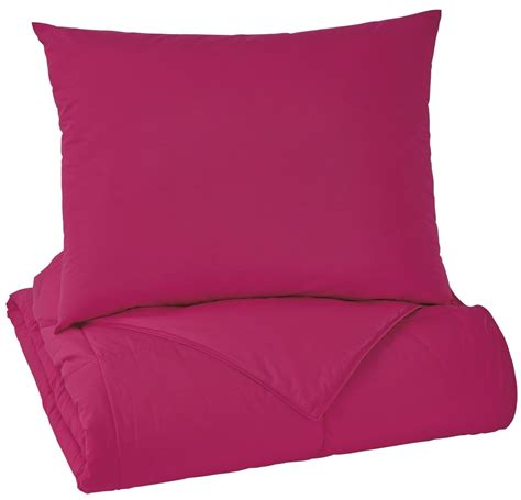 magenta bedding plainfield magenta full comforter set from ashley