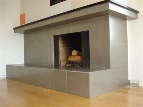 Metallic Tile Fireplace by Metallic Coated Porcelain Tile Fireplace In Point Loma Yelp