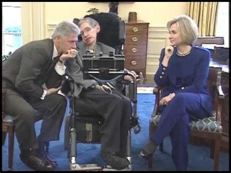stephen hawking   white house  president clinton