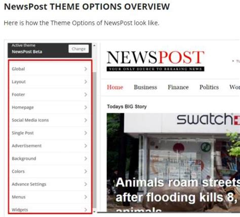 newspaper theme options newspost theme review magazine3 good