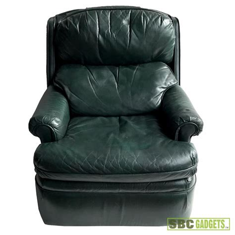 green leather recliner chair barcalounger genuine leather recliner green ebay