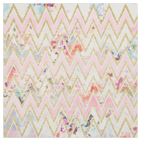 pink watercolor pattern pastel watercolor floral pink gold chevron pattern fabric