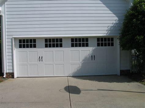 3 Panel Garage Door Three Panel Carriage House Garage Door With Large Windows