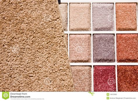 Wide Floor Plans choice of carpet colors stock photo image of many