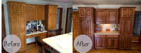 Updating Oak Kitchen Cabinets Before And After   Monsterlune