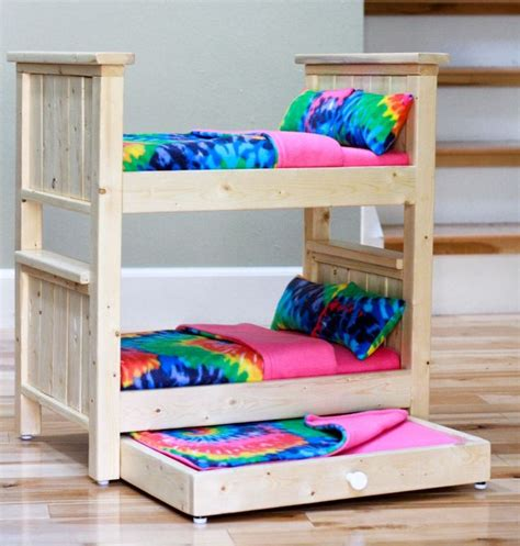 American Doll Bunk Bed Plans Bunk Bed For Doll Plans The Mattresses Are Made From Bio Based Foam From Hobby Lobby Crafts