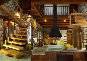 Log Cabin Kitchen Designs awesome traditional stone house in pelion greece decoholic