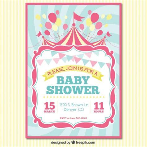 baby shower d baby shower carte d invitation t 233 l 233 charger des vecteurs