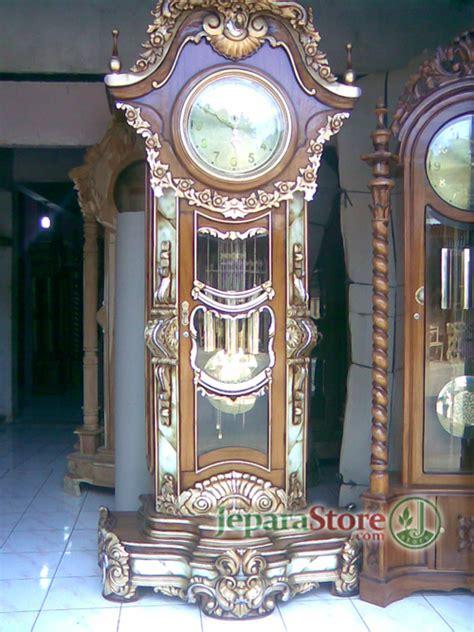Jam Mawar Jati lemari jam hias mawar gempol jepara store toko mebel pusat furniture jati jepara