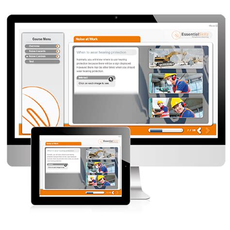 online tutorial work noise at work compliance health and safety elearning