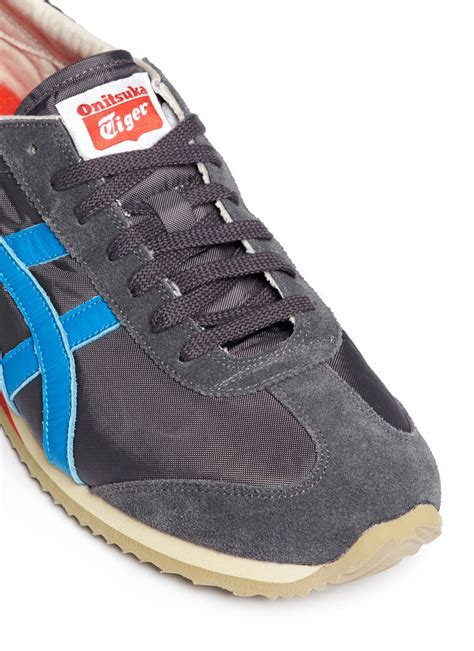 Onitsuka Tiger Suede Brown Original lyst onitsuka tiger california 78 vin suede sneakers in blue for