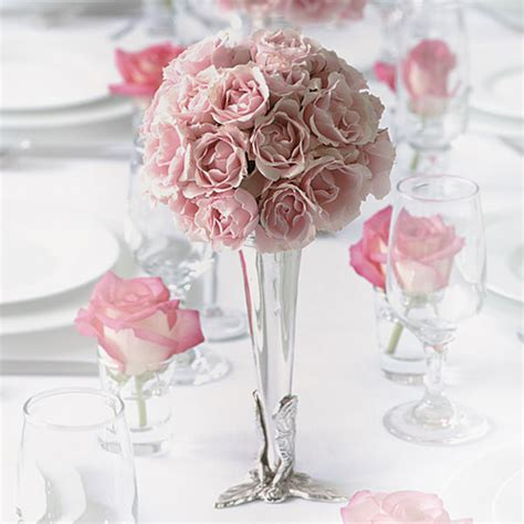 wedding flower arrangements roses pink wedding flower arrangements the wedding