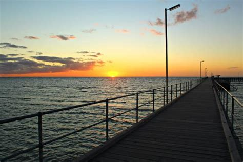 sunset at moonta bay jetty picture of moonta bay patio