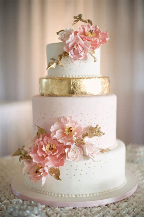 wedding cakes 12 gorgeous metallic wedding cakes the magazine