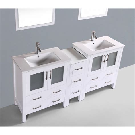 double vanity with makeup station bathroom beautiful design of 72 inch vanity for elegant