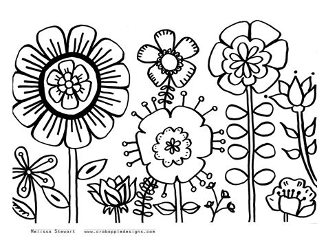 Flowers Coloring Pages  sketch template