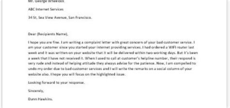 Complaint Letter About Bad Customer Service Complaint Letter About Unclean Facilities Writeletter2