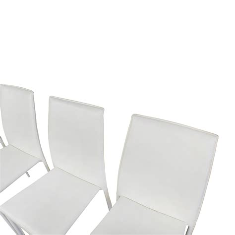 Modern White Leather Dining Chairs 77 All Modern All Modern White Leather Dining Chairs Chairs