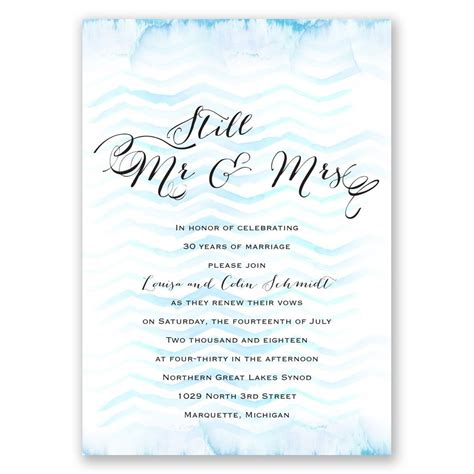 Wedding Vows Renewal by Watercolor Chevron Vow Renewal Invitation Invitations By