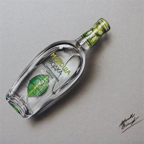 Drawing 4 Hours A Day by This Drawing Of A Bottle Of Morosha Took Nearly 4