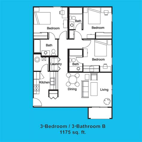 3 bedroom apartments near ucf floor plans at northgate lake student apartments near ucf