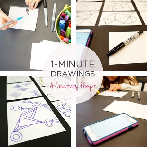 ideas for drawing drawing ideas one minute drawings tinkerlab