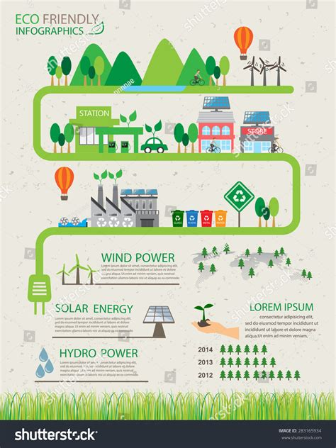 green biz trends for earth month infographic industry green ecology infographics elements background environment