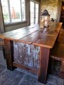 Hooker Dining Room Tables farmhouse barnwood table with benches rustic dining