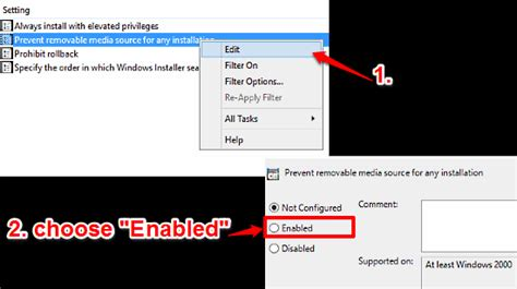 install windows 10 keep programs disable installations from removable media in windows 10