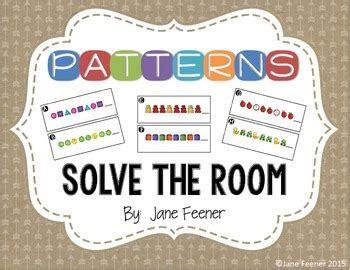 solve the room patterns solve the room by feener teachers pay teachers