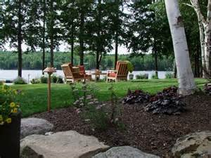 Cape Code Style House by New Hampshire Lake Front Landscape Landscaping Network