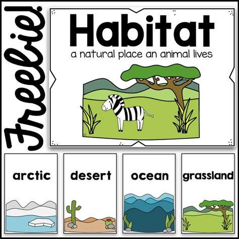 printable animal habitat cards free habitat poster card visuals https www