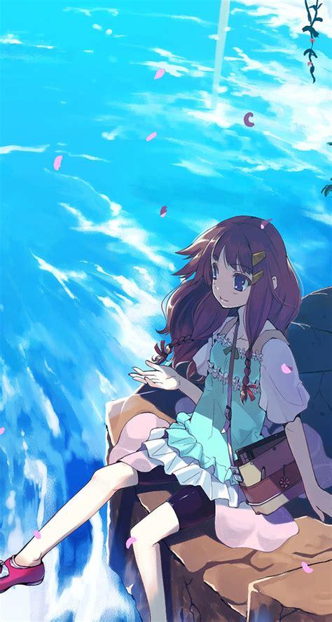 anime girl summer wallpaper summer breeze the iphone wallpapers