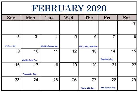 february  calendar printable   daily   list  office