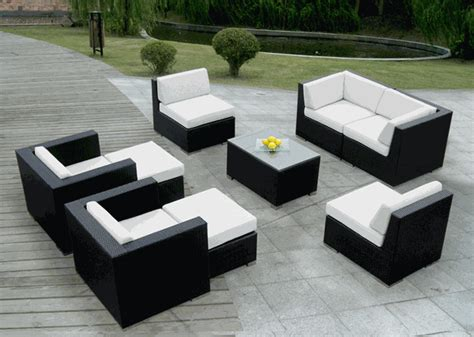 couch and chaise lounge set beautiful ohana outdoor patio wicker deep seating sofa and