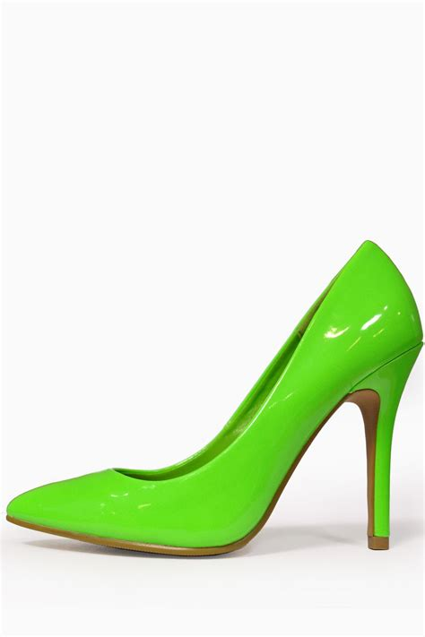 greene shoes debbie pointed court shoes in neon green ireland am
