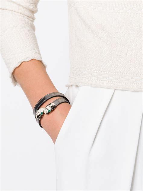 Bvlgari Seepenti lyst bvlgari serpenti forever bracelet in metallic