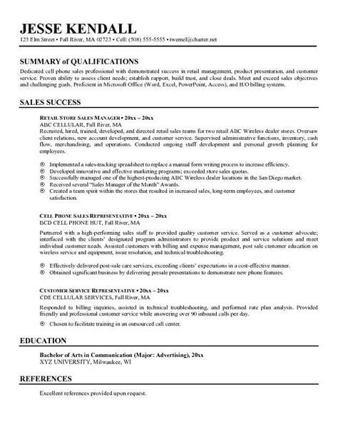 resume for qualifications http topresume info