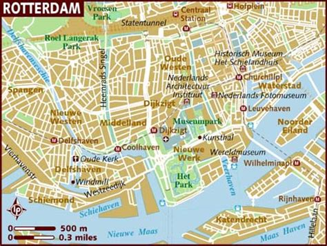 rotterdam netherlands on map map of rotterdam