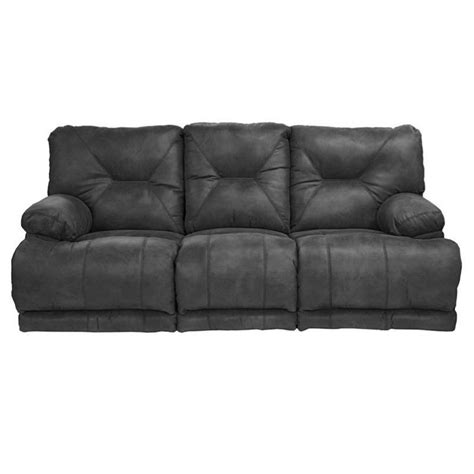 lay flat recliner sofa catnapper voyager lay flat reclining sofa in slate