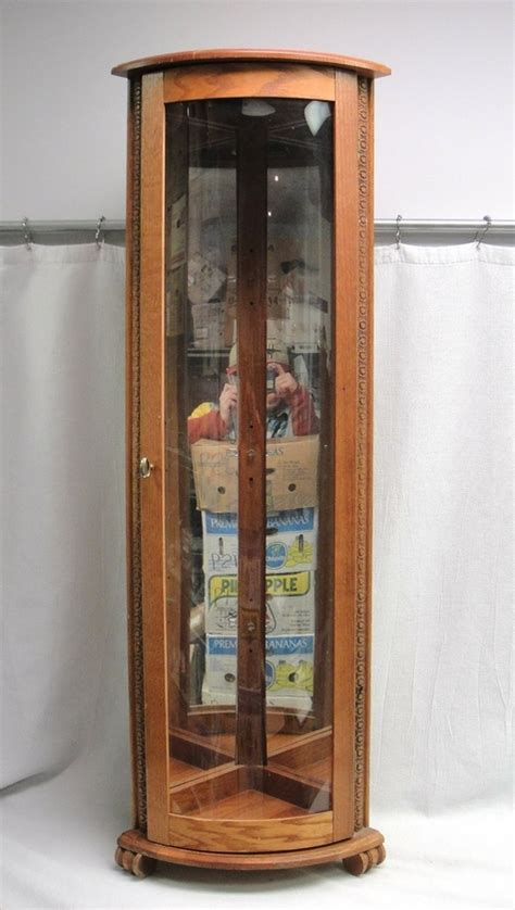 Wood And Glass Corner Display Cabinets by Wood Glass 56 Quot Mirrored Corner Curio Display