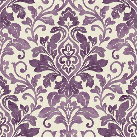 damask wallpaper pinterest purple damask wallpaper plum purple cream 414602