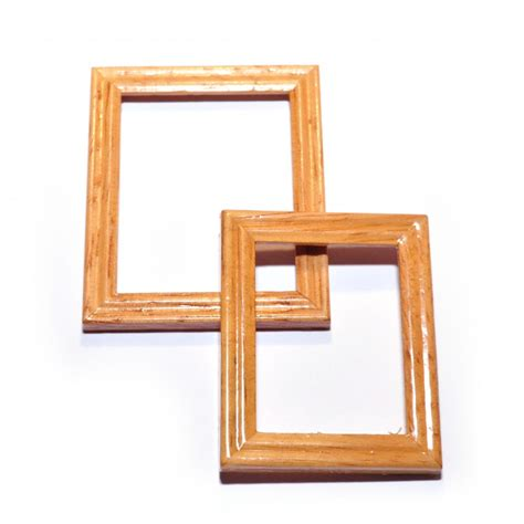 dolls house picture frames d1957 pair of wooden picture frames online dolls house superstore