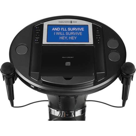 Singing Machine Ism1050bt Bluetooth Pedestal Karaoke System singing machine ism1050bt bluetooth pedestal karaoke system brandsmart usa