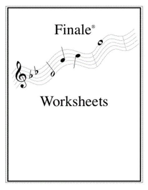 Finale Worksheets worksheets elements of
