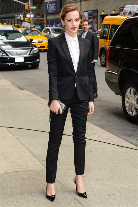 emma watson in suit emma watson in a saint laurent suit give your cocktail